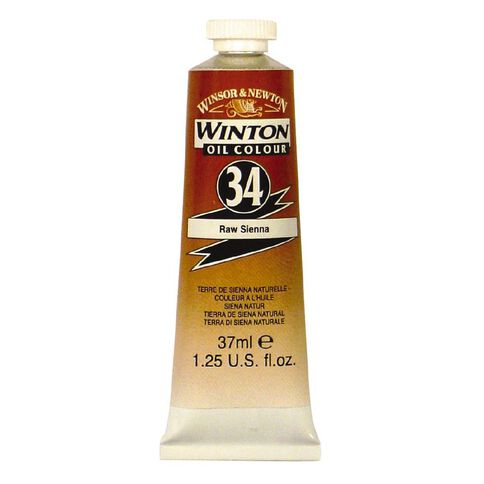 Winsor & Newton Winton Oil Paint 37ml Raw Sienna Brown
