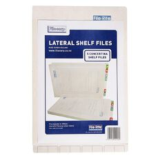 Filecorp 2016 Concertina Shelf File 5 Pack White