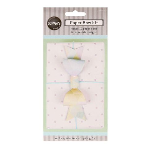 Rosie's Studio Paper Bow Kit 12 Pack Pastel