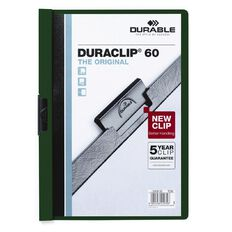 Durable Clip Report Cover 60 Capacity Green