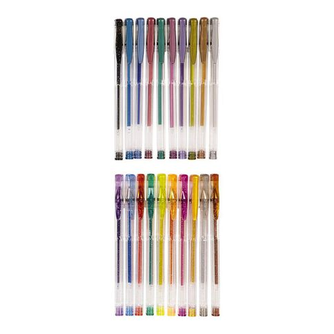 WS Gel Pens Sparkle 20 Pack Mixed Assortment