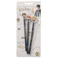 Harry Potter Pencils With Eraser Topper 3 Pack