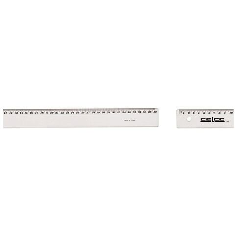 Impact Steel Ruler Steel 20 500mm Clear