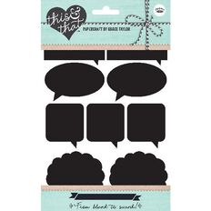 Grace Taylor Stickers Blackboard 48 Pack Speech Black