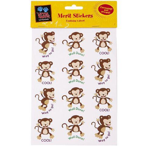 Little Hands Learning Merit Stickers Monkeys