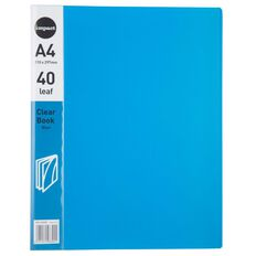 WS Clear Book 40 Leaf Blue A4
