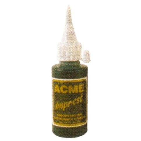 Acme Ink Rubber Stamp Blue 50ml Blue