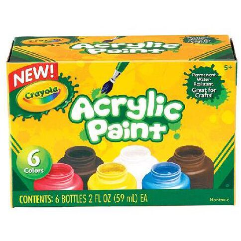 Crayola Acrylic Paint 6 Pack