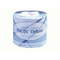 Pacific Hygiene Pacific Deluxe Toilet Tissue Wrapped 2 Ply White