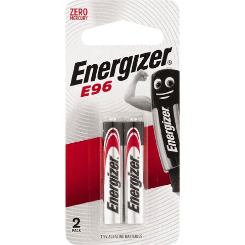Energizer Lithium Batteries E96 AAAA 2 Pack