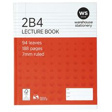 WS Lecture Book 2B4 7mm Ruled Hardcover 94 Leaf