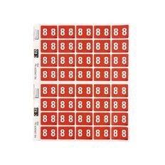 Filecorp Coloured Labels 8 Red