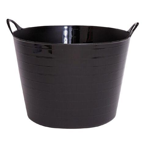 Taurus Flexi Tub Round Black 42L