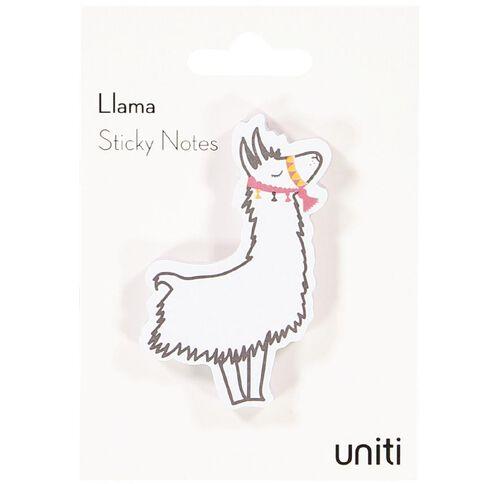 Uniti Llama Shaped Sticky Notes