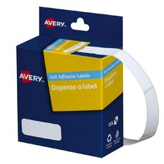 Avery White Rectangle Dispenser Stickers 36x13mm 700 Labels Handwritable
