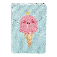Kookie Fun Food Reversible Sequin Notebook A5