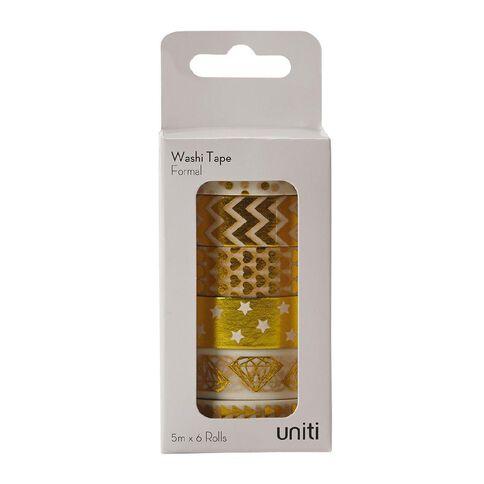 Uniti Washi Tape 6 Pack Formal