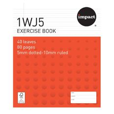 Impact Exercise Book 1WJ5 5mm/10mm Ruled 40 Leaf
