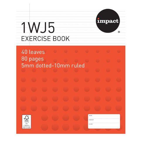 Impact Exercise Book 1WJ5 5mm/10mm Ruled 40 Leaf