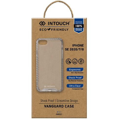 INTOUCH iPhone 7/8/SE Vanguard Drop Protection Case Clear