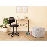 Living & Co Student Desk with Black Frame Oak Look