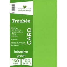 Trophee Card 160gsm 100 Pack Intensive Green A4
