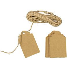 Uniti Tags And Twine Kit Kraft