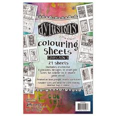 Ranger Dylusions Colouring Sheets 5 x 8 Inches Collection 3