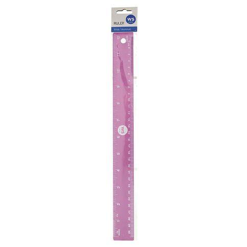 WS Ruler Aluminum Pink/Purple 30cm