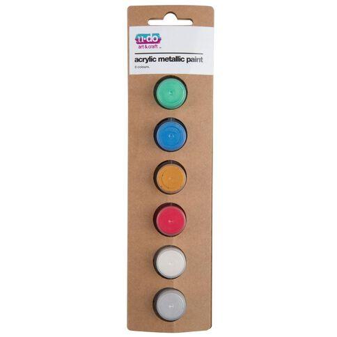 U-Do Acrylic Metallic Colour 6 Pieces