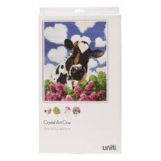 Uniti Crystal Art 35cm x 45cm Cow & Heart Clouds