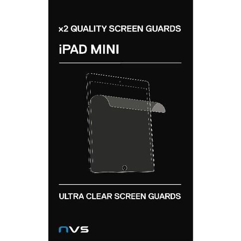 NVS Screen Guard For iPad Mini & Retina 2 Pack Clear