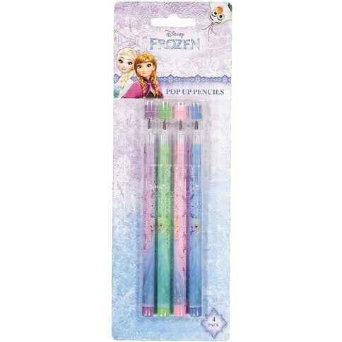 Frozen Pop Up Pencils 4 Pack
