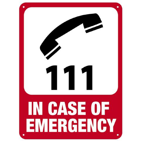 WS In Case of Emergency Sign Large 600mm x 450mm