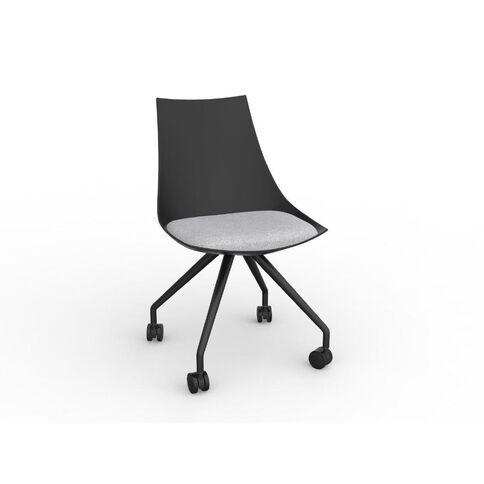 Luna Chair Black Ash Grey Grey