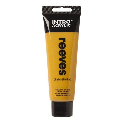 Reeves Intro Acrylic Paint Yellow Ochre Yellow 120ml