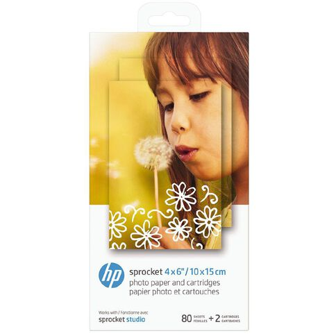 HP Sprocket Studio 4x6 Photo Paper 80 Sheets