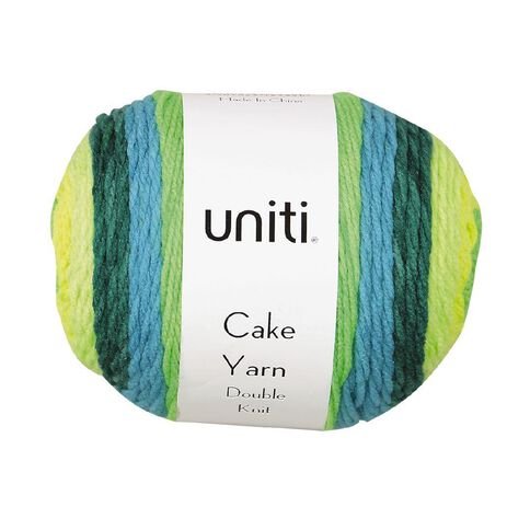 Uniti Yarn Cake Double Knit 200g Lime 200g