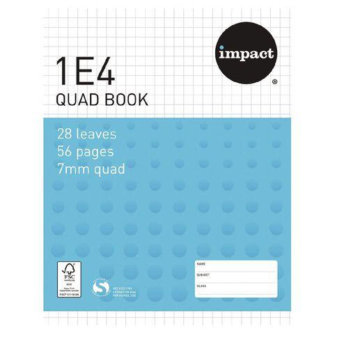 Impact Exercise Book 1E4 7mm Quad 28 Leaf Blue