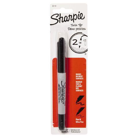 Sharpie Marker Twin Tip Black 1 Pack