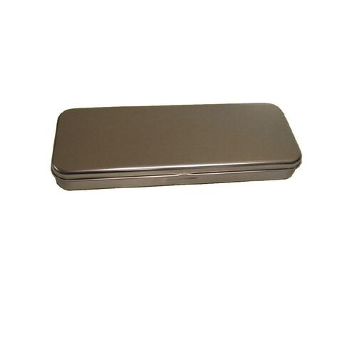GBP Stationery Pencil Case Tin Square Metallic