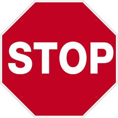 WS Stop Sign Large 600mm x 600mm