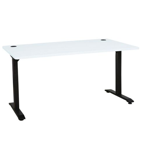 Jasper J Emerge Metal Leg Desk 1500 White/Ironstone