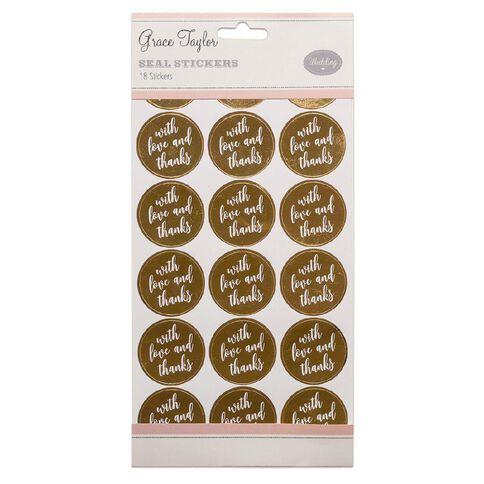 Grace Taylor Wedding Seals 18 Pack Gold