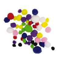 Kookie Pom Poms Multi-Coloured 50 Pack