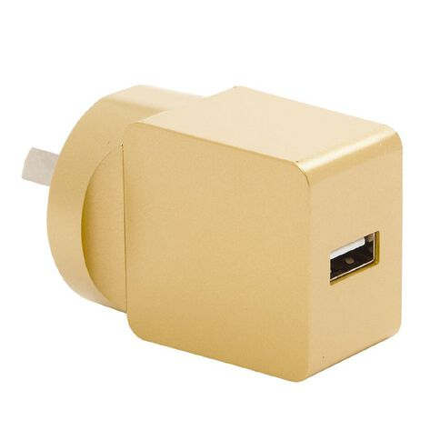 USB Wall Charger 2.4A Pastel Geo Gold
