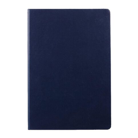 WS Hardcover PU Notebook Navy A4