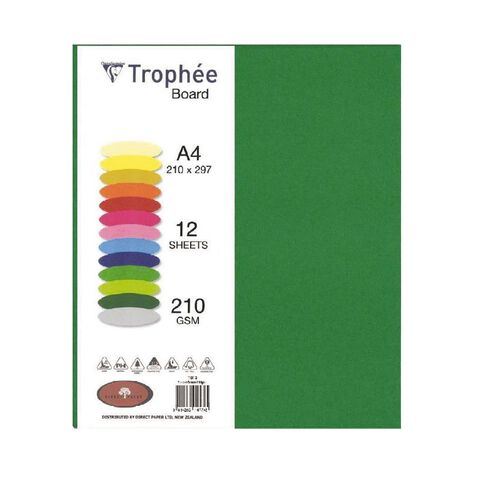 Trophee Board 210gsm 12 Pack Forest Green A4