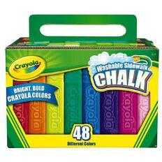 Crayola Washable Sidewalk Chalk 48 Piece Multi-Coloured