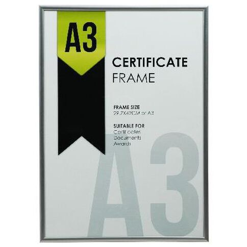 Certificate Frame A3 Silver | Warehouse Stationery, NZ